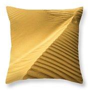 Desert Sand Dune Throw Pillow