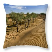 Desert Tamarix Trees Throw Pillow