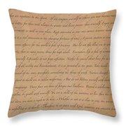 Desiderata Poem By Max Ehrmann Throw Pillow
