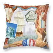 Destruction Of Native America Throw Pillow