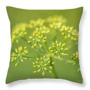 Yellow Dill Flower Throw Pillow