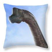 Dinosaur Brachiosaurus Throw Pillow