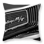Dodge Challenger Rt Grille Emblem Throw Pillow