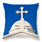 Dome Of Agios Georgios Chapel Throw Pillow
