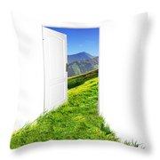 Door To New World Throw Pillow