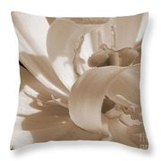 Double Late Tulip Named Angelique Throw Pillow