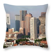 Downtown Boston Skyline Throw Pillow