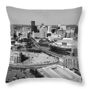 Downtown Skyline Of St. Paul Minnesota Throw Pillow