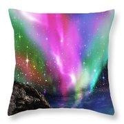Dramatic Aurora Throw Pillow