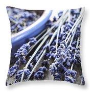 Dried Lavender Throw Pillow