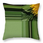 Dwarf Sunflower Named Teddy Bear Throw Pillow