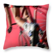 Dynamic Racing Cycle Throw Pillow