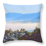 Early Morning On Blue Ridge Parkway Throw Pillow