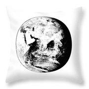 Earth Globe Throw Pillow