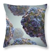 Echo Virus Throw Pillow
