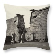 Egypt Luxor Temple Throw Pillow