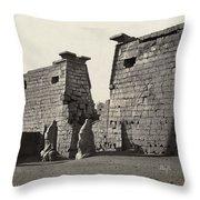Egypt Luxor Temple Throw Pillow