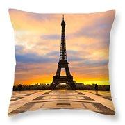 Eiffel Tower - Paris Throw Pillow