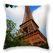 Eiffel Tower Paris France Throw Pillow