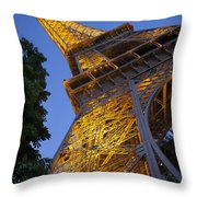 Eiffel Twilight Throw Pillow
