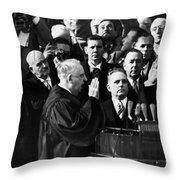 Eisenhower Inauguration Throw Pillow