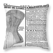 Electric Corset, 1882 Throw Pillow
