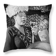 Ella Fitzgerald (1917-1996) Throw Pillow by Granger