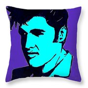 Elvis The King Throw Pillow