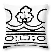 English Crown Throw Pillow