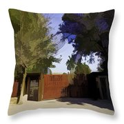 Entrance Gate Of Humayuns Tomb In Delhi  Throw Pillow