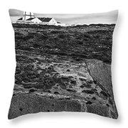 Espichel Cape Lighthouse Throw Pillow