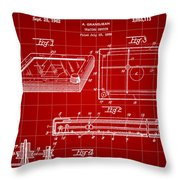 Etch A Sketch Patent 1959 - Red Throw Pillow