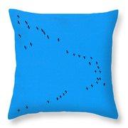Eurasian Cranes Throw Pillow