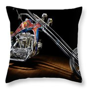 Evel Knievel Harley-davidson Chopper Throw Pillow