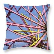 Evergreen State Fair Ferris Wheel Throw Pillow