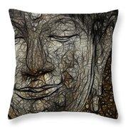 Face Of Buddha Throw Pillow