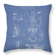 Fender Guitar Patent Drawing From 1961 Throw Pillow