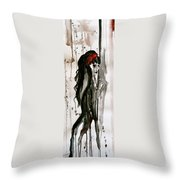 Figure Art Painting Throw Pillow