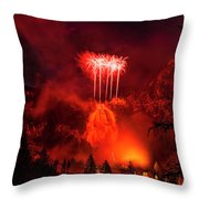 Fireworks Above Toce Falls, Formazza Throw Pillow