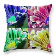 Firmenish Bicolor Pop Art Shades Throw Pillow