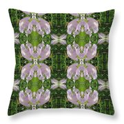 Flowers From Cherryhill Nj America Silken Sparkle Purple Tone Graphically Enhanced Innovative Patter Throw Pillow