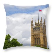 Flying The Colours Throw Pillow
