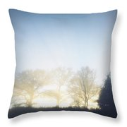 Foggy Morning Throw Pillow