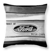 Powered By Ford Emblem -0307bw Throw Pillow
