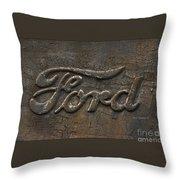 Ford Tough Antique Truck Logo Throw Pillow