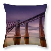 Forth Rail Bridge Throw Pillow
