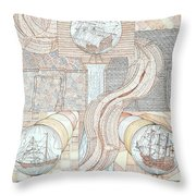 Fortune Of Ships Throw Pillow