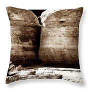 Four Boulders Throw Pillow