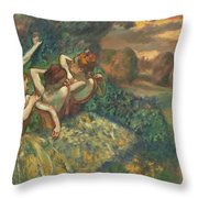 Four Dancers Throw Pillow
