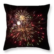 Fourth Of July Fireworks Throw Pillow